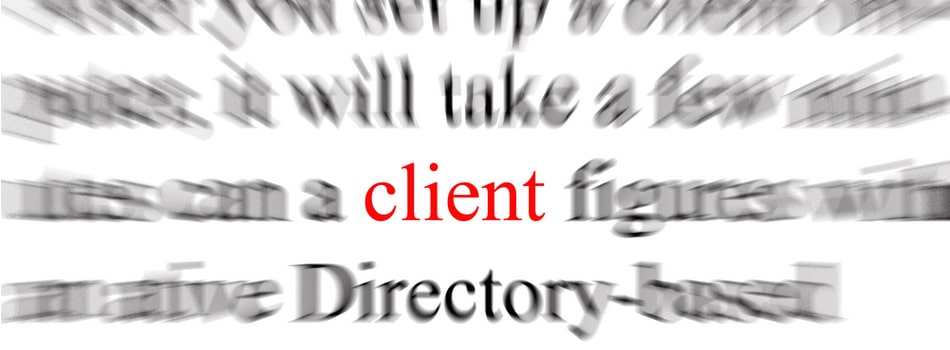 all about the client